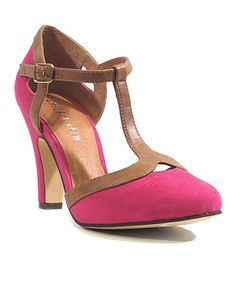 This Pink & Tan Dalia Pump is perfect! #zulilyfinds