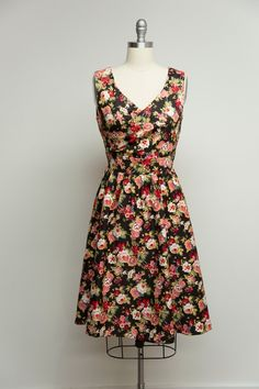 Floral Black Pink May Dress