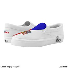 Czech flag Slip-On sneakers - Canvas-Top Rubber-Sole Athletic Shoes By Talented Fashion And Graphic Designers - #shoes #sneakers #footwear #mensfashion #apparel #shopping #bargain #sale #outfit #stylish #cool #graphicdesign #trendy #fashion #design #fashiondesign #designer #fashiondesigner #style