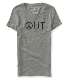 Peace Out Graphic T - Aeropostale