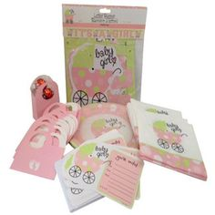 Baby Girl Shower Party Supplies Bundle