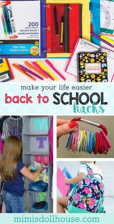 Back to School Hacks: Going Back to School Without Going Crazy. Are you gearing up for school? Here are some back to school hacks to make the transition easier! Back To School Highschool, Back To School Quotes, School Supplies Highschool, Back To School Party, Make School, Back To School Crafts, Back To School Hacks, Back To School Teacher, Diy School Supplies