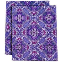Vera Bradley Pocket Folders in Lilac Tapestry ($14) ❤ liked on Polyvore featuring home, home decor, lilac tapestry, vera bradley home decor and vera bradley