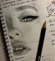 43 Ideas For Art Inspo Sketchbooks Cartoon Cool Art Drawings, Pencil Art Drawings, Beautiful Drawings, Art Drawings Sketches, Drawings Of Faces, Tumblr Art Drawings, Art Illustrations, Drawing Tips, Painting & Drawing