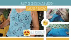 Crochet Blouse, Blue