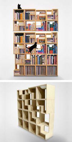 22 ideias de estantes para usar os livros na decoração da casa   Marte é para os Fracos