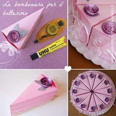 DIY cute cake favor boxes , i have to make these..
