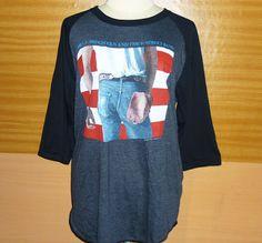 Image of Bruce Springsteen Long Sleeve Shirt Baseball Shirt Raglan Shirt Rock Tee Shirt