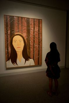 """""""Follow this link for excellent images of people looking at art in museums. Loved it"""" KB alex katz"""