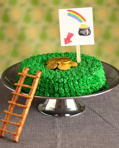 Leprechaun Trap Cake | Martha Stewart Living - Megan Reardon's (of MeganReardon.com) creation may look like a perfectly innocent cake meant to lure a leprechaun to the top -- but it has a few secrets.