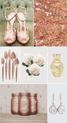 rose gold wedding ideas #weddingideas #weddinginspiration #weddingchicks http://www.weddingchicks.com/2014/02/19/glamorous-rose-gold-wedding/