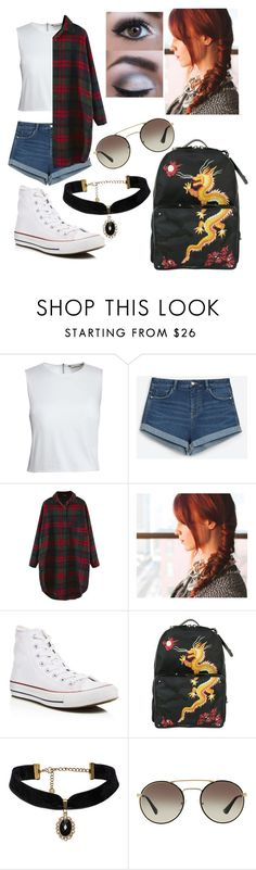 """Untitled #233"" by mama-seokjin92 ❤ liked on Polyvore featuring Canvas by Lands' End, Zara, Converse and Prada"