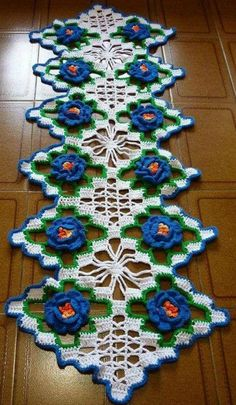 Crochet lace tape,, tape lace as table runnerno pattern just for inspiration - PIPicStatsThis Pin was discovered by HUZDiscover recipes, home ideas, style inspiration and other ideas to try. Crochet Doily Patterns, Crochet Squares, Thread Crochet, Filet Crochet, Crochet Motif, Crochet Designs, Crochet Table Runner, Crochet Tablecloth, Crochet Kitchen