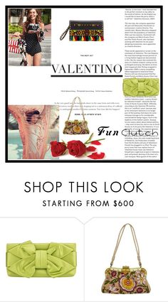 """""""A selection of Valentino best clutches"""" by paloma-m ❤ liked on Polyvore featuring Valentino and clutches"""
