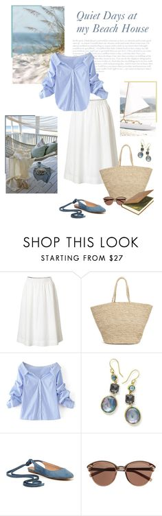 """""""Beach House"""" by isidora ❤ liked on Polyvore featuring WithChic, Ippolita, Madewell and Witchery"""
