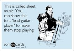 Free video lesson on note reading for Guitar by Jeffrey Thomas. This lesson will help you understand how the natural notes are placed on the guitar. Music Memes, Music Humor, Music Quotes, Funny Music, Piano Memes, Music Lessons, Guitar Lessons, Musician Jokes, Guitar Quotes