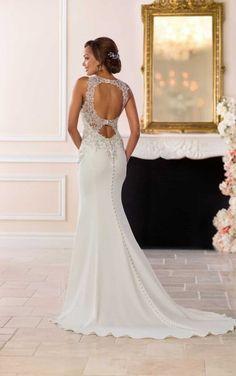 6651 Abito da sposa vintage con bordatura in argento di Stella York Stella  York 9f2c21a3118