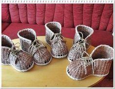 návod na botu   Pletení z papíru