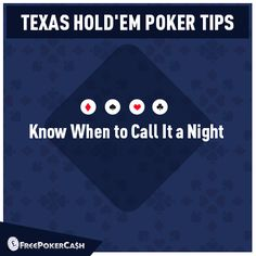 #PokerTips - The best decision about playing poker is to know when to stop playing poker.