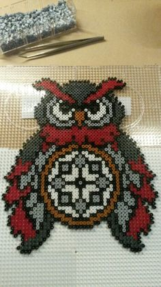 Owl hama beads dreamcatcher