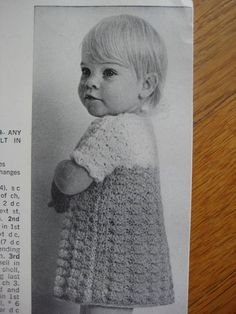 Vintage Crochet Pattern Toddler and Girl's Dress, 2 and 4 Year Sizes 220e. $3.00, via Etsy.