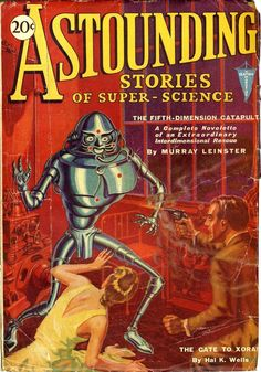 Astounding Stories of Super-Science, January 1931, cover by H. W. Wesso