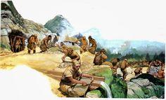 Angus McBride - Europa megalítica (4500-1200 aC).