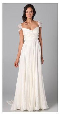Reem Acra embellished wedding dress. L.O.V.E.