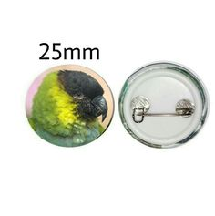 Nanday Conure 25mm Button Pin Badge (PG-01048) Nanday Conure, Pin Badges, Parrot, Button, Gifts, Parrot Bird, Presents, Favors, Gift