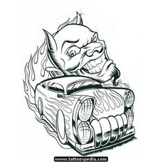 Unique Devil Tattoos Designs Tattoo Designs, Shirt Designs, Car Tattoos, Devil Tattoo, Tattoo Templates, Tattoo Images, Gallery, Drawings, Creative