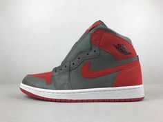 ab62e9fb130 Nike Air Jordan 1 Retro High Iron Grey Venetian Red 2018 Fashion Shoe