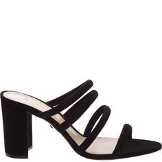 6c03cfdff44e These black strappy mules make a chic statement! Slide your feet into these  comfortable sandals