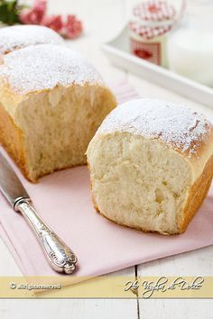Pan brioche al latte morbidissimo, con water roux. My Favorite Food, Favorite Recipes, Bread Recipes, Cooking Recipes, Plum Cake, Snacks, Sweet Bread, Creative Food, Cakes And More