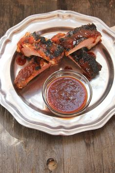 Baby Back Ribs and Homemade Bourbon Barbecue Sauce | ShesCookin.com