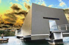 USS Arizona Memorial, Pearl Harbor. Oahu, Hawaii.
