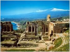 Here is our virtual Italy tour of Taormina. On your tour of Sicily you must take in Taormina. This online tour of Taormina will give you a taste. Places Around The World, Oh The Places You'll Go, Places To Travel, Places To Visit, Around The Worlds, Travel Destinations, Ancient City, Ancient Greek, Ancient Ruins