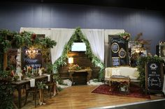 Our whimsical, bohemian wonderland booth set up at @thepinkbride Knoxville show | www.thepinkbride.com