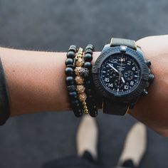 For Men with Style! #breitling watch and @marcosdeandradeofficial #bracelets [ http://ift.tt/1f8LY65 ]