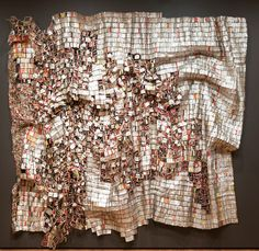 """Ozone Layer by El Anatsui- His work reflects his awareness of both the international contemporary art market and what he terms """"classical"""" African art."""