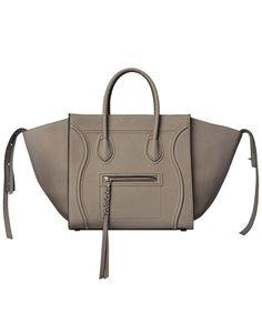 CELINE Phantom Tote Handbag Taupe'. #celine #bags #leather #hand bags #tote #