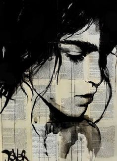 "Saatchi Art Artist Loui Jover; Drawing, ""just a simple melody"" #art"