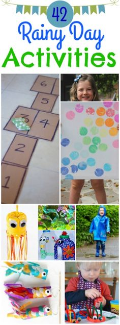April showers may indeed bring May flowers, but they can also bring boredom to the kids staring out the windows longing to be outdoors. The next time your picnic or trip to the park gets rained out and your little one bouncing off the walls, try one of these rainy day activities!