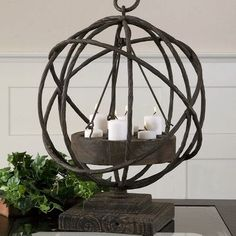 Uttermost Sammy Iron and Wood Dish