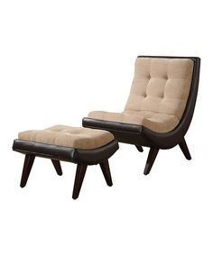 Another great find on #zulily! Two-Tone Melrose Lounge Chair & Ottoman Set #zulilyfinds
