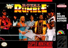 WWF Royal Rumble -  professional wrestling video game released by LJN in 1993 for the Super NES & Sega Genesis. Like its predecessor, WWF Super WrestleMania it is based on the World Wrestling Federation. It features a variety of match types, including the Royal Rumble match. each version of the game has 5 exclusive playable characters. The SNES version features Ric Flair, Mr. Perfect, Ted DiBiase,  Yokozuna and Tatanka.
