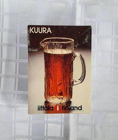 Iittala Kuura Finland Pitcher designed by Tapio Wirkkala. 90s Pattern, Glass Pitchers, Scandinavian Design, Finland, Mid Century, Sketches, Bar, Modern, Etsy