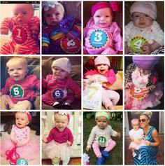 12 Months in a baby's life. Amazing how much they change in just 365 days! http://www.momgenerations.com/2014/07/victoria-month-to-month-baby-photos/