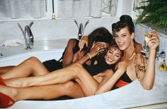 As one of the first photographers allowed backstage during fashion week, Roxanne Lowit has, in 30 years, amassed the ultimate collection of candid celebrity images (pictured: Naomi Campbell, Christy Turlington and Linda Evangelista in Linda Evangelista, Christy Turlington, Naomi Campbell, Claudia Schiffer, Cindy Crawford, Top Models, Runway Models, Natalia Vodianova, Kate Moss