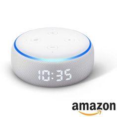 Echo Dot (3ª geração) Smart Speaker Amazon com Relógio e Alexa BrancoAlexa assistente virtual Ipod, Bluetooth, Gadgets, Ipods, Gadget