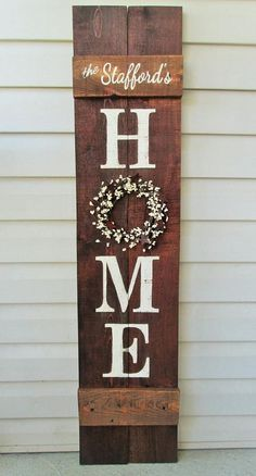 Fall Porch Sign HOME 4' As for Me and My House Reversible